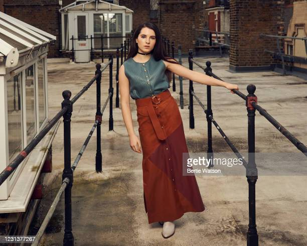 Actor Darci Shaw is photographed on December 9, 2020 in London, England.