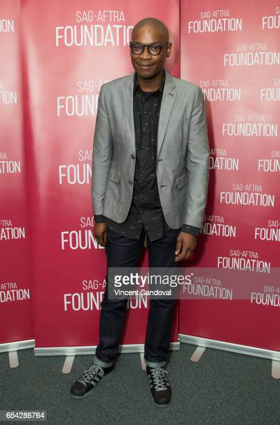 Actor Darien SillsEvans attends SAGAFTRA Foundation's Conversations with Superior Donuts at SAGAFTRA Foundation Screening Room on March 16 2017 in...
