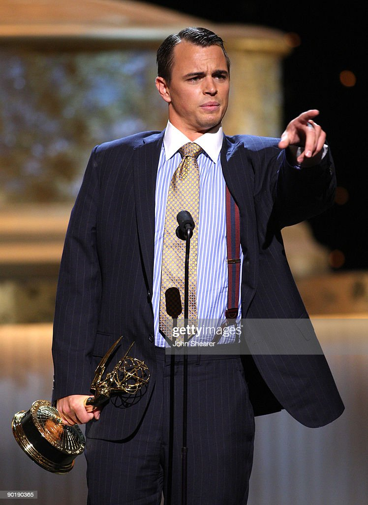 Actor Darin Brooks accepts the Outstanding Younger Actor In A Drama Series award for 'Days of Our Lives' onstage during the 36th Annual Daytime Emmy Awards at The Orpheum Theatre on August 30, 2009 in Los Angeles, California.