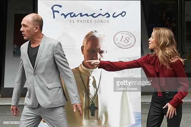 Actor Dario Grandinetti and actress Silvia Abascal attend 'Francisco' photocall at the Princesa cinema on September 15 2015 in Madrid Spain