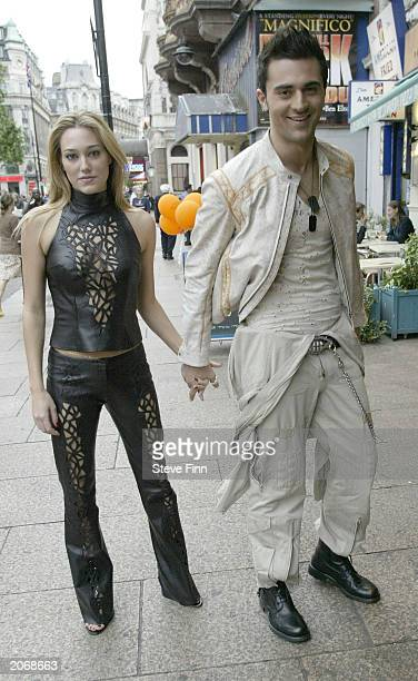 Actor Darius Danash and guest Jackie arrive for the '2 Fast 2 Furious' film premiere at Warner Village cinema at Leicester Square June 9 2003 in...