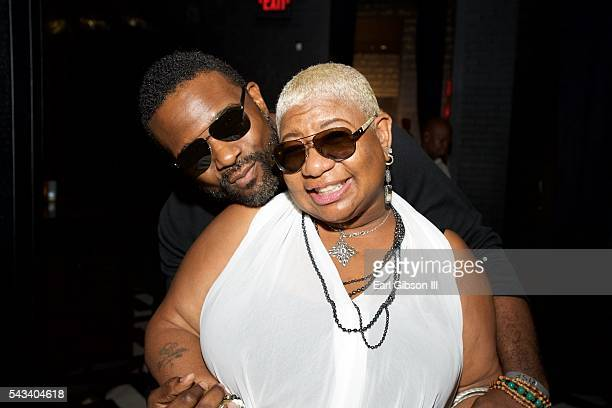 Actor Darius McCrary and comedian/actress Luenell attend BET Music Moguls Premiere Event at 1OAK on June 27 2016 in West Hollywood California