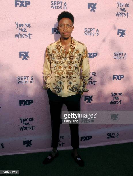 Actor Darrell BrittGibson attends the premiere of FXX's 'You're The Worst' Season 4 at Museum of Ice Cream LA on August 29 2017 in Los Angeles...