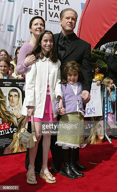 Actor Darrell Hammond and his family pose at the gala premiere of New York Minute during the 2004 Tribeca Film Festival at Tribeca Performing Arts...
