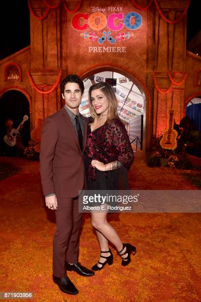 Actor Darren Criss and director Mia Swier at the US Premiere of DisneyPixar's 'Coco' at the El Capitan Theatre on November 8 in Hollywood California