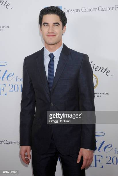 Actor Darren Criss arrives at the 19th Annual Jonsson Cancer Center Foundation's Taste For A Cure at Regent Beverly Wilshire Hotel on April 25 2014...