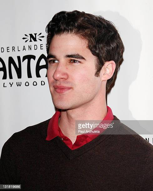 Actor Darren Criss arrives at the Avenue Q Los Angeles opening night at the Pantages Theatre on March 1 2011 in Hollywood California