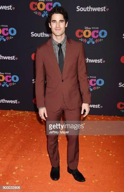 Actor Darren Criss arrives at the premiere of Disney Pixar's 'Coco' at El Capitan Theatre on November 8 2017 in Los Angeles California