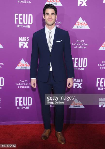 Actor Darren Criss arrives at the premiere of FX Network's 'Feud Bette And Joan' at Grauman's Chinese Theatre on March 1 2017 in Hollywood California