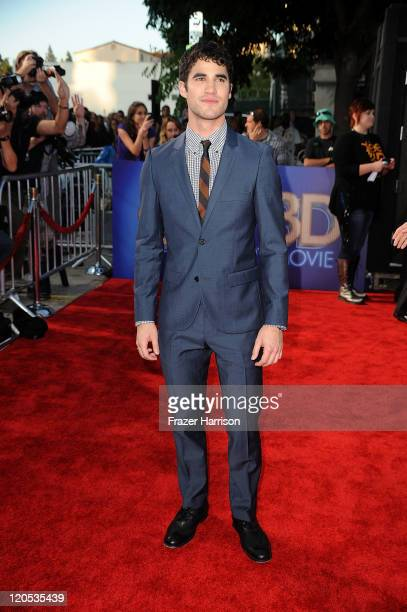 Actor Darren Criss arrives at the Premiere Of Twentieth Century Fox's 'Glee The 3D Concert Movie' at the Regency Village Theater on August 6 2011 in...