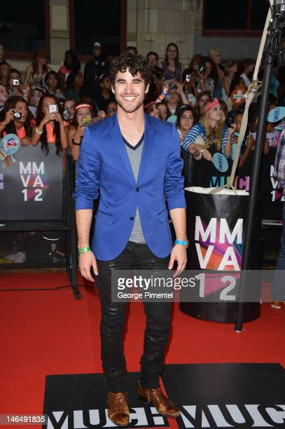 Actor Darren Criss arrives on the red carpet of the 23rd Annual MuchMusic Video Awards at MuchMusic HQ on June 17, 2012 in Toronto, Canada.