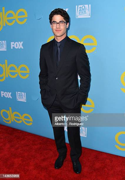 Actor Darren Criss arrives to The Academy of Television Arts Sciences' screening of Fox's Glee at Leonard Goldenson Theatre on May 1 2012 in North...