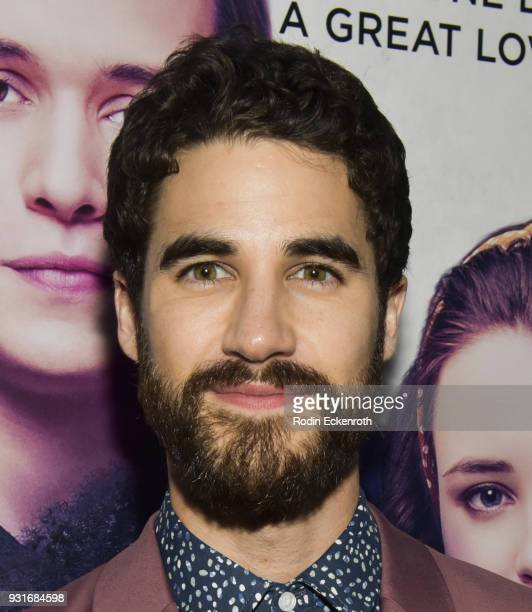 Actor Darren Criss attends a special screening of 20th Century Fox's 'Love Simon' at Westfield Century City on March 13 2018 in Los Angeles California