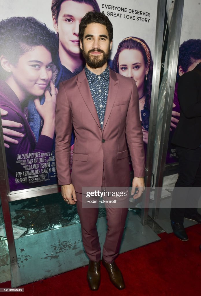 Actor Darren Criss attends a special screening of 20th Century Fox's 'Love, Simon' at Westfield Century City on March 13, 2018 in Los Angeles, California.