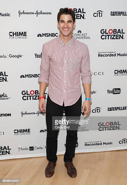 Actor Darren Criss attends Global Citizen The World On Stage on September 22 2016 in New York City