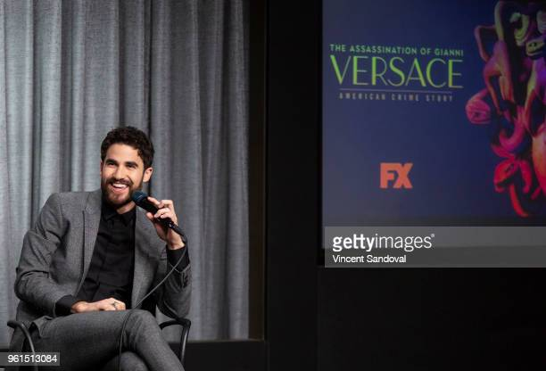 Actor Darren Criss attends SAGAFTRA Foundation Conversations screening of 'The Assassination Of Gianni Versace American Crime Story' at SAGAFTRA...