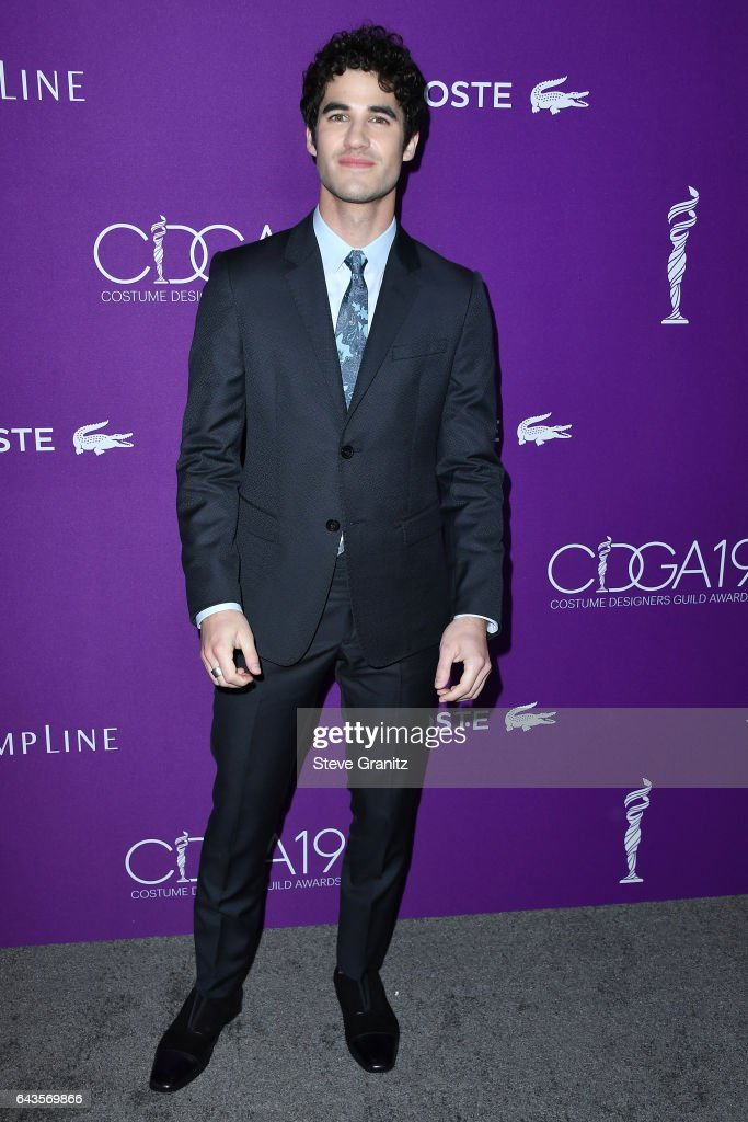 Actor Darren Criss attends The 19th CDGA (Costume Designers Guild Awards) with Presenting Sponsor LACOSTE at The Beverly Hilton Hotel on February 21, 2017 in Beverly Hills, California.