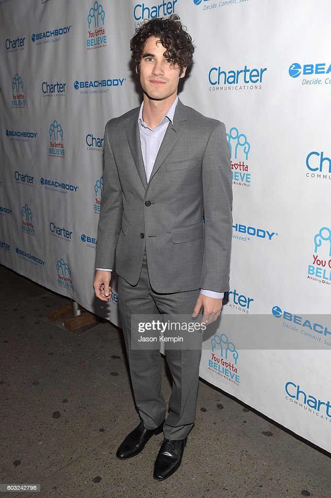 Actor Darren Criss attends the 2nd Annual Voices For The Voiceless: Stars For Foster Kids Benefit at the Al Hirschfeld Theatre on September 12, 2016 in New York City.