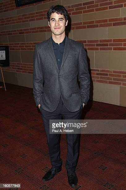 Actor Darren Criss attends the 40th Annual Annie Awards after party held at Royce Hall on the UCLA Campus on February 2 2013 in Westwood California