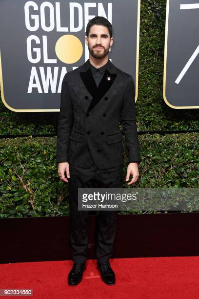 Actor Darren Criss attends The 75th Annual Golden Globe Awards at The Beverly Hilton Hotel on January 7 2018 in Beverly Hills California