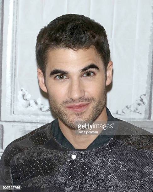 Actor Darren Criss attends the Build Series to discuss 'The Assassination of Gianni Versace American Crime Story' at Build Studio on January 16 2018...
