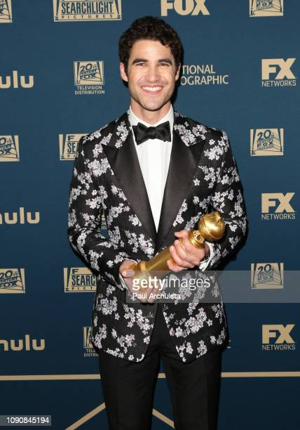 Actor Darren Criss attends the FOX, FX and Hulu 2019 Golden Globe Awards after party at The Beverly Hilton Hotel on January 06, 2019 in Beverly...