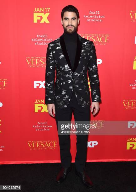 Actor Darren Criss attends the Los Angeles Premiere of 'The Assassination of Gianni Versace American Crime Story' at ArcLight Hollywood on January 8...