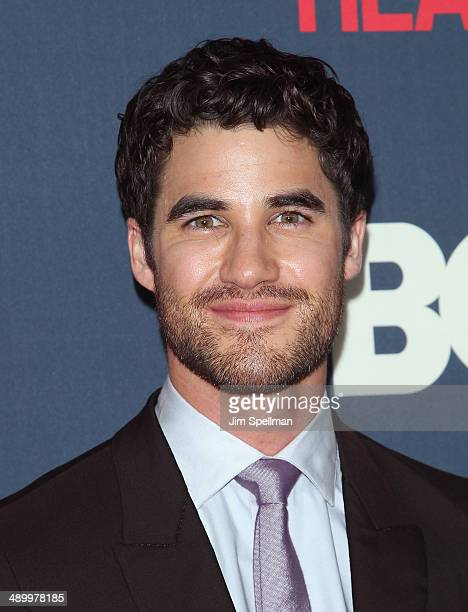 Actor Darren Criss attends The Normal Heart New York Screening at Ziegfeld Theater on May 12 2014 in New York City