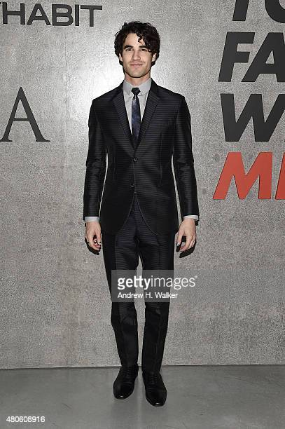 Actor Darren Criss attends the opening event for New York Fashion Week Men's S/S 2016 at Amazon Imaging Studio on July 13 2015 in Brooklyn New York