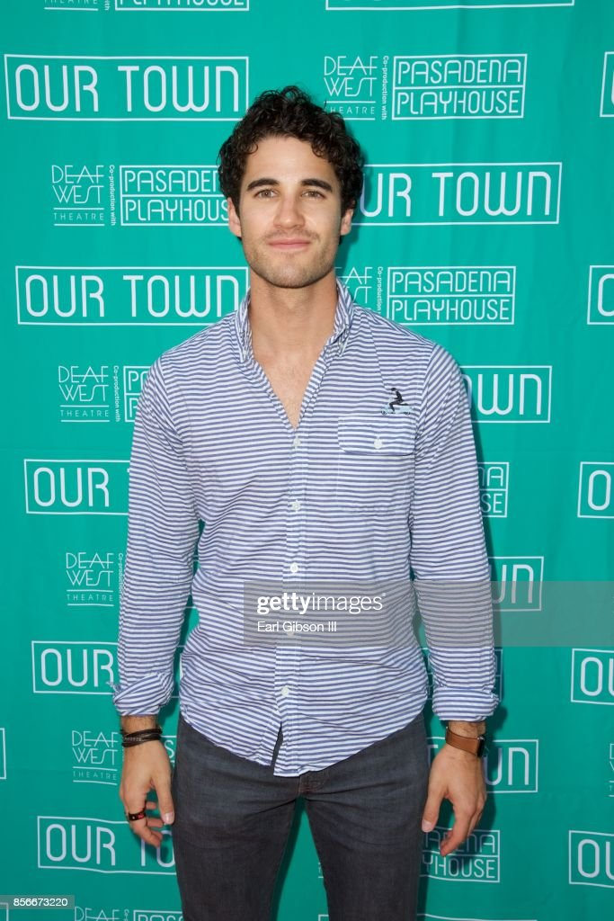 Actor Darren Criss attends the Pasadena Playhouse And Deaf West Theatre's 'Our Town' Opening Night at Pasadena Playhouse on October 1, 2017 in Pasadena, California.