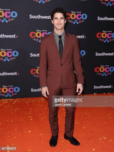 Actor Darren Criss attends the premiere of 'Coco' at El Capitan Theatre on November 8 2017 in Los Angeles California
