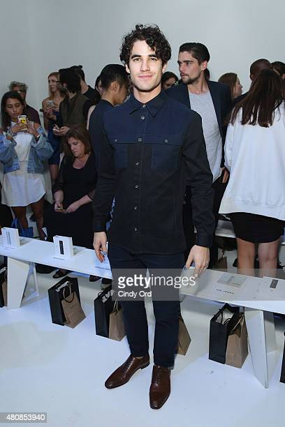Actor Darren Criss attends the Richard Chai fashion show during New York Fashion Week Men's S/S 2016 at Skylight Clarkson Sq on July 15 2015 in New...