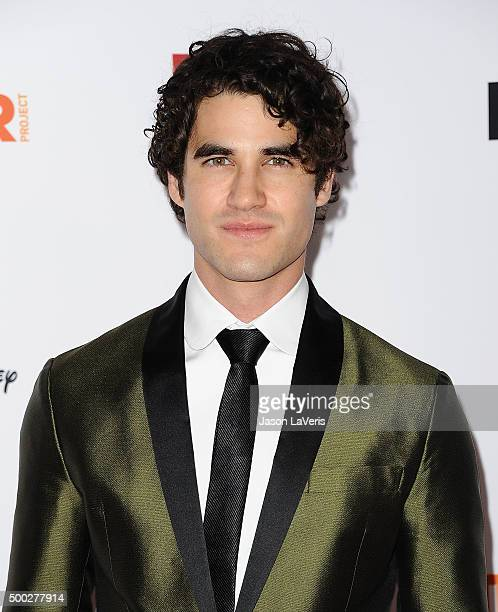 Actor Darren Criss attends TrevorLIVE LA 2015 at Hollywood Palladium on December 6 2015 in Los Angeles California