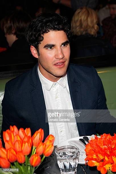 Actor Darren Criss attends Vogue's Triple Threats dinner hosted by Sally Singer and Lisa Love at Goldie's on April 3 2013 in Los Angeles California