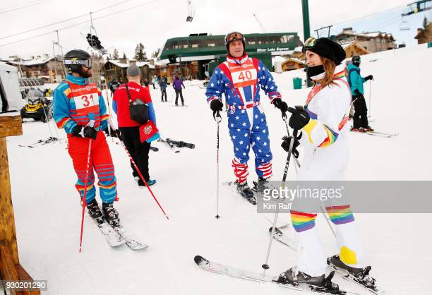 Actor Darren Criss Matt Iseman and Mia Swier attend Operation Smile's 7th Annual Park City ski challenge sponsored by The St Regis Deer Valley and...