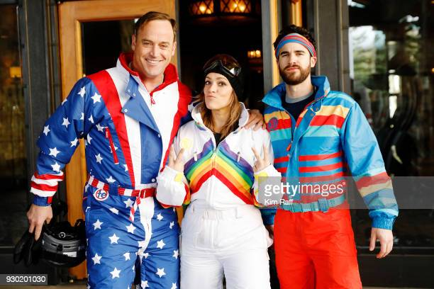 Actor Darren Criss Mia Swier and Matt Iseman attend Operation Smile 7th Annual Park City ski challenge sponsored by The St Regis Deer Valley and Deer...
