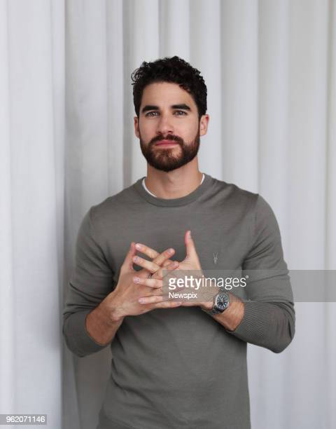 SYDNEY NSW Actor Darren Criss poses during a photo shoot at the ShangriLa Hotel in Sydney New South Wales
