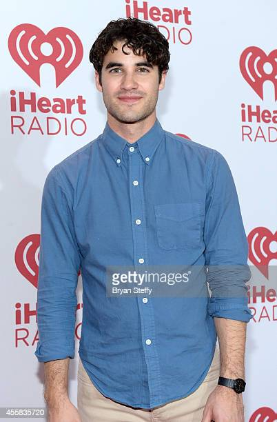 Actor Darren Criss poses in the press room during the 2014 iHeartRadio Music Festival at MGM Grand Garden Arena on September 20 2014 in Las Vegas...