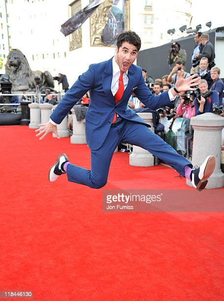 Actor Darren Crissvattends the Harry Potter And The Deathly Hallows Part 2 world premiere at Trafalgar Square on July 7 2011 in London England