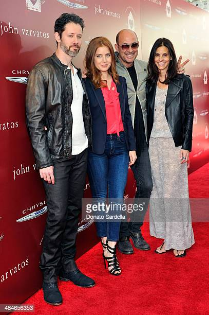 Actor Darren Le Gallo actress Amy Adams designer John Varvatos and wife Joyce Varvatos arrive at the John Varvatos 11th Annual Stuart House Benefit...