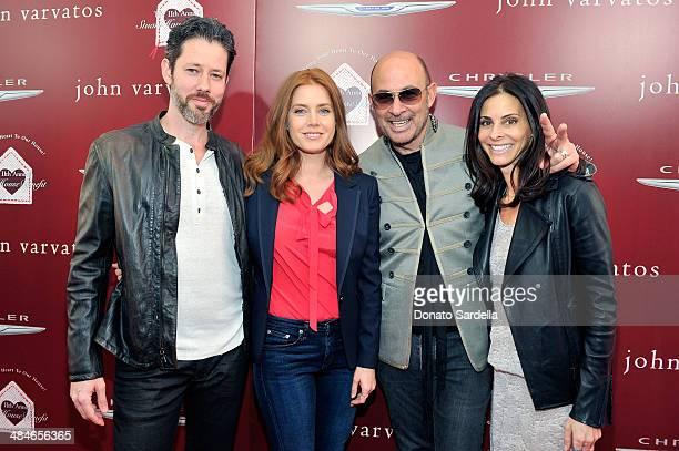 Actor Darren Le Gallo actress Amy Adams designer John Varvatos and wife Joyce Varvatos arrive at the John Varvatos 11th Annual Stuart House Benefit...