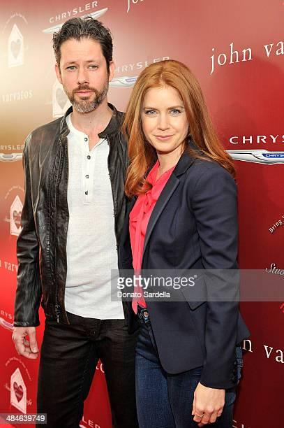 Actor Darren Le Gallo and actress Amy Adams arrive at the John Varvatos 11th Annual Stuart House Benefit at John Varvatos Boutique on April 13 2014...