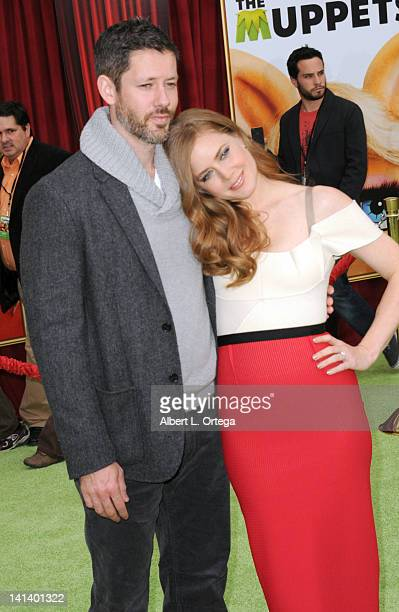 Actor Darren Le Gallo and actress Amy Adams arrive for 'The Muppet' Los Angeles Premiere held at the El Capitan Theatre on November 12 2011 in...