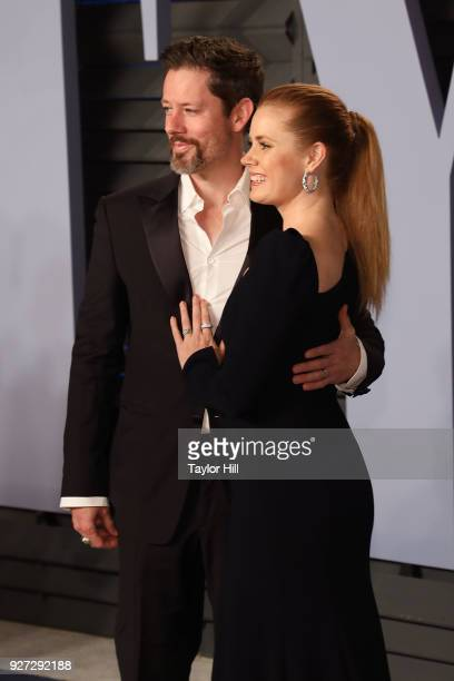 Actor Darren Le Gallo and actress Amy Adams attends the 2018 Vanity Fair Oscar Party hosted by Radhika Jones at Wallis Annenberg Center for the...