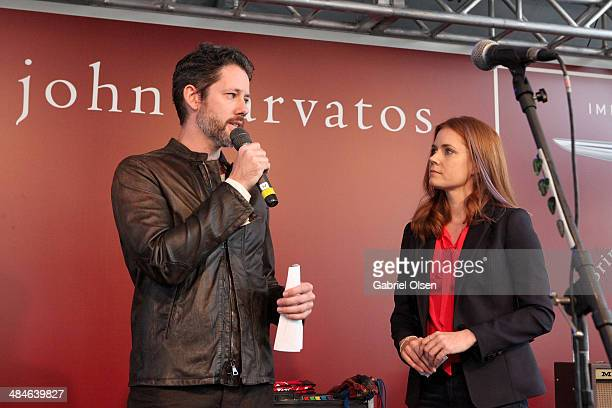 Actor Darren Le Gallo and actress Amy Adams onstage at the John Varvatos 11th Annual Stuart House Benefit at John Varvatos Boutique on April 13 2014...