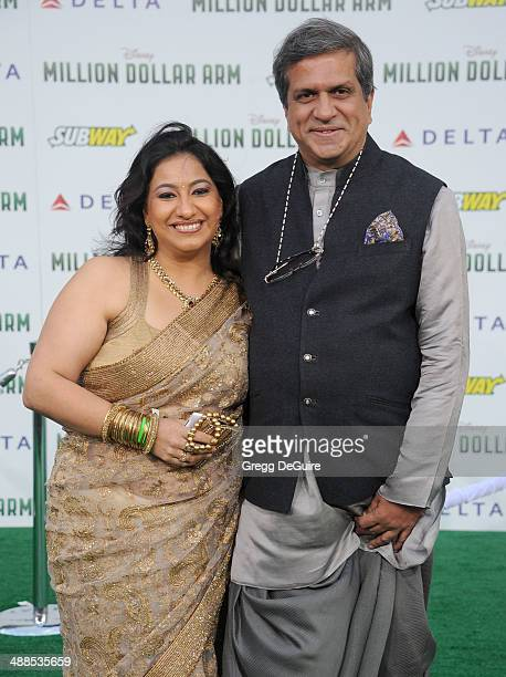 Actor Darshan Jariwala and wife Anahita Italia arrive at the Los Angeles premiere of Million Dollar Arm at the El Capitan Theatre on May 6 2014 in...