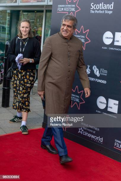 Actor Darshan Jariwala attends a photocall for the World Premiere of 'Eaten by Lions' during the 72nd Edinburgh International Film Festival at...