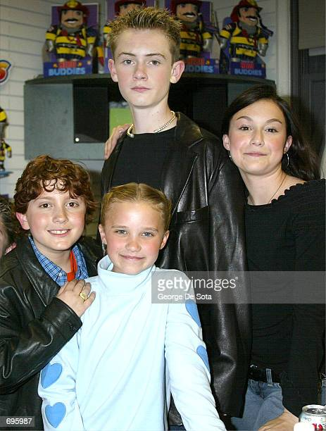 Actor Daryl Sabara actress Emily Osment actor Matt O''Leary and actress Alexa Vega attend a press conference to announce the arrival of the new Spy...