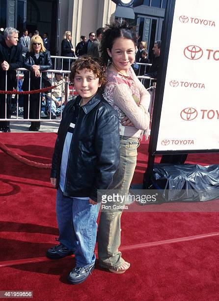 Actor Daryl Sabara and actress Alexa Vega attend the ET the ExtraTerrestrial 20th Anniversary Screening on March 6 2002 at the Shrine Auditorium in...