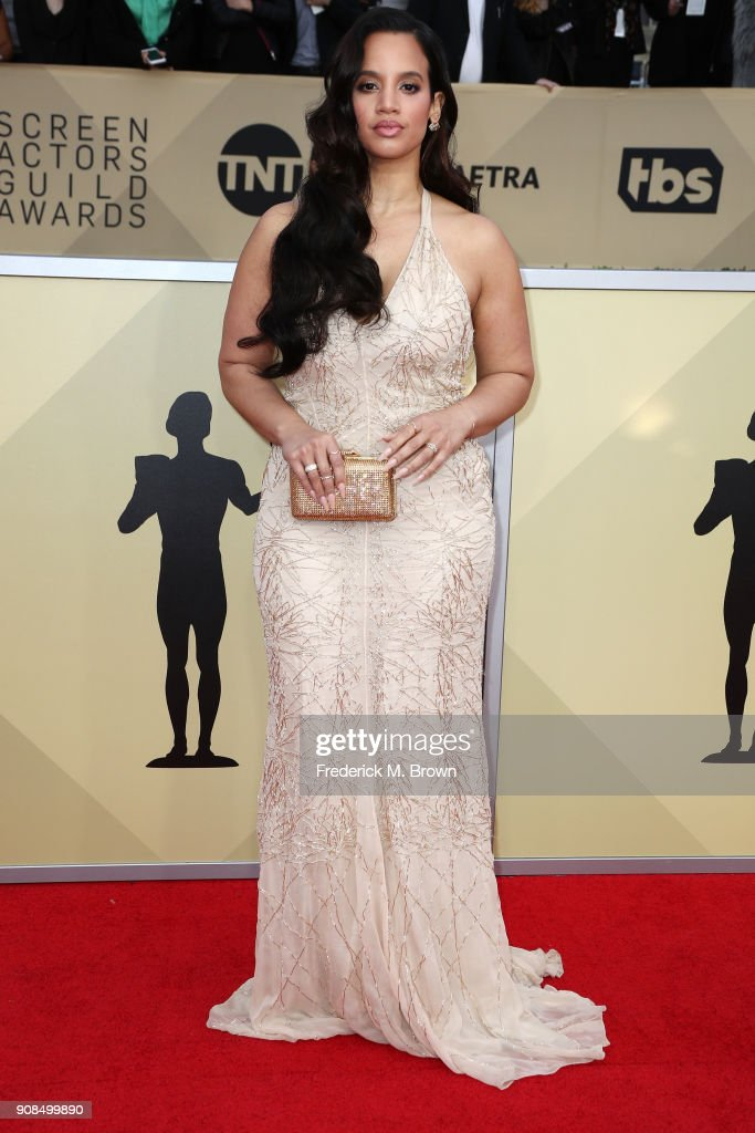 Actor Dascha Polanco attends the 24th Annual Screen Actors Guild Awards at The Shrine Auditorium on January 21, 2018 in Los Angeles, California. 27522_017